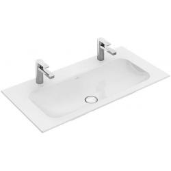 Double vasque sans trop-plein, 1000x500 mm, avec CeramicPlus, blanc alpin 4164A1R1