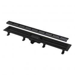 Caniveau de douche 550 mm avec grille, noir mat (APZ10BLACK-550M)