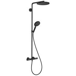 Raindance Select S Colonne de douche 240 1jet PowderRain avec mitigeur thermostatique noir mat (27633670)