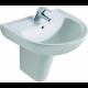 Pack lavabo Eurovit (Lavabo + mitigeur + siphon + cache siphon)