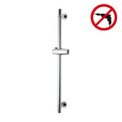 Spaa Barre de douche 655 mm, métal chromé et plastique, pose facile sans perçage (40342-00000-00)