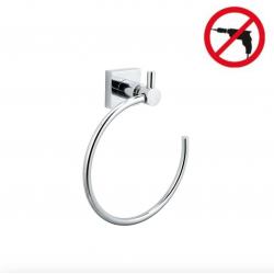 Hukk Anneau porte-serviette, métal chromé, pose facile sans perçage (40254-00000-00)