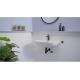 Eurosmart Cosmopolitan Mitigeur monocommande lavabo, taille M, noir mat/pièces chromées (23327KW0)