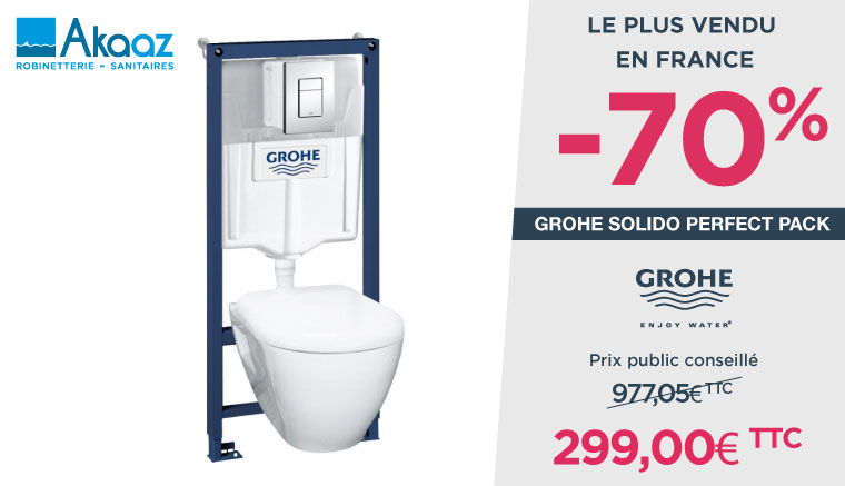 Grohe Solido Perfect Pack Bati WC GUADELOUPE
